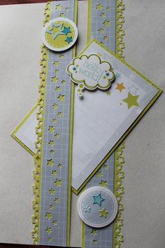 Its a Boy Stack pack and stickers. Border stars are made with a Fiskar's punch, the stars in the middle are punched with CM's stardust maker Baby Girl Scrapbook, Baby Scrapbook Pages, Scrapbook Borders, Printable Scrapbook Paper, Scrapbook Embellishments, Scrapbook Page Layouts, Scrapbook Cards, Scrapbook Designs, Paper Punch Art