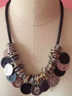 CLEO Multi Coin Necklace Coin Necklace by 89andLuxe