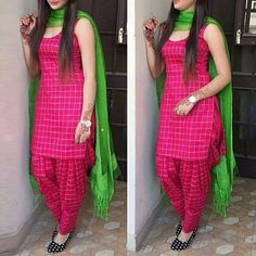 Buy Cotton Blue Checkered Print Unstitched Patiala Suit - online in India at best price.Product Details Cotton Blue Checkered Print Unstitched Patiala Suit - Disclaimer : Color of the Patiala Suit Designs, Salwar Designs, Kurta Designs Women, Kurti Designs Party Wear, Saree Blouse Designs, Dress Designs, New Kurti Designs, Patiala Dress, Patiala Salwar Suits
