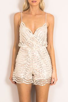 I LIKE IT LOUD SEQUIN PLAYSUIT - Dissh