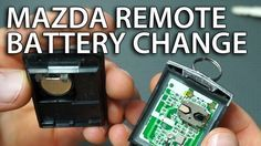 How To Replace Battery In Mazda Remote 6 3 5 2 Mpv Rx 8 Cx 7 Flip Key Fob Change