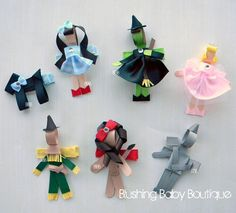wizard of oz hair clip set