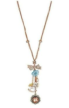 Betsey Johnson Vintage bow necklace, $38