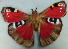 Hand-felted Butterfly