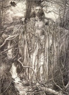 Merlin by Alan Lee.