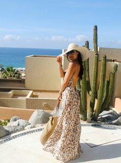 Love this outfit! The HONEYBEE: Flynn Skye coverup Beach tote and floppy hat from Target
