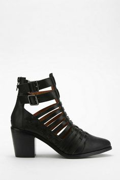 SOLES Savage Heeled Ankle Boot #urbanoutfitters