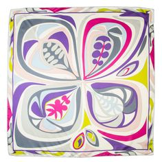 Mod Pucci Scarf   From a collection of rare vintage scarves at https://www.1stdibs.com/fashion/accessories/scarves/