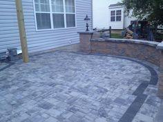 Backyard patio--nicolock pavers and pergola