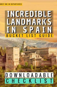Incredible Landmarks in Spain to add to your Spanish Bucket List | Spain Landmarks | Spain Bucket List | Must See in Spain | Best things to do in Spain | Visit Spain | Spanish Bucket List | Famous Spanish Landmarks | Things to see in Spain | Barcelona Bucket List | Seville Bucket List | Spain Checklist | Where to go in Spain | What to see in Spain | Visiting Spain | Spain Itinerary | Planning a trip to Spain | Spain Aesthetic #Spain #Europe #VisitSpain #Iberia Places To Travel, Places To See, Beautiful Places In Usa, Spain Travel Guide, Europe Destinations, European Travel, Travel Inspiration, Spain Holidays, Meet