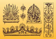 FreeVector-Antique-Ornament-Vectors.jpg (850×600)