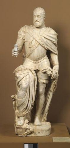 Charles V Holy Roman Emperor (1500-1558) By Leone Leoni. Carrara marble. c. 1553