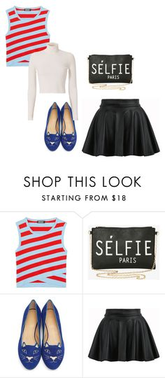 """""""My First Polyvore Outfit"""" by plam-tincheff ❤ liked on Polyvore featuring DKNY, Torrid, Charlotte Olympia and A.L.C."""