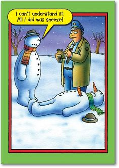 Funny snowman cartoons