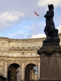 Admiralty Arch in London Bandera de UK