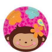 Monkey Love Dessert Plates 8ct