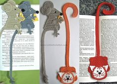 Cat and Mouse Bookmarks Amigurumi Crochet Pattern