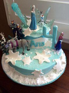 Disney's Frozen themed Happy Birthday Cake