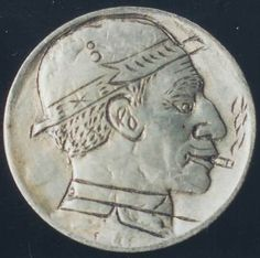 Elmer Villarin - Beardless Smoker Hobo Nickel, Coins, Carving, Personalized Items, Rooms, Wood Carvings, Sculptures, Printmaking, Wood Carving