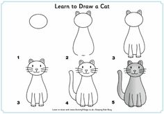 Learn to draw a cat step by step illustrated