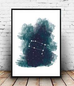Digital Zodiac Sign Watercolor Print, Digital Download Astrology Artwork, Zodiac Artwork, Zodiac signs, Gemini Art