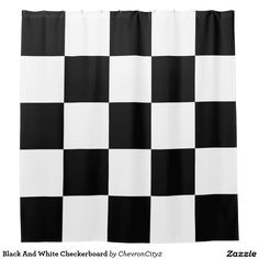 Classic Black Checkered Flag Shower Curtain The