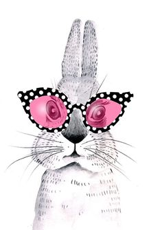 Bunny with Sunglasses by Lisa Buckridge