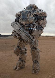 Juggernaut Mech Design desert by sancient.deviantart.com on @deviantART