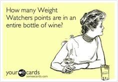 Weight Watchers points in wine ;)