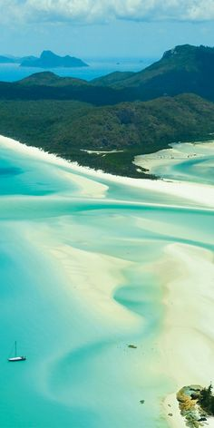 Aerial views of Hill inlet Whitehaven Beach, Hamilton Island - by Pauly Vella