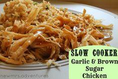 new mrs. adventures: Tasty Tuesday- Slow Cooker Garlic & Brown Sugar Chicken