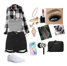 """"" by jossemely on Polyvore featuring Topshop, Marchesa, Vans, Alex and Ani, MICHAEL Michael Kors, Beats by Dr. Dre, Samsung, MAC Cosmetics, Marc Jacobs and Michael Kors"