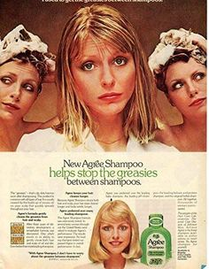 """Vintage Agree Shampo Magazine Ad- """"New Agree Shampoo helps stop the greasies…"""