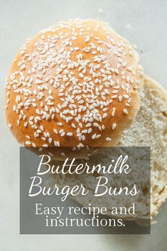 Recipe and tutorial for fluffy light richly flavored buns perfect for burgers pulled pork or anything! Homemade Hamburger Buns, Homemade Breads, Best Burger Buns, Canned Butter, Recipe Cover, Bun Recipe, Yummy Snacks, Delicious Recipes, Easy Recipes