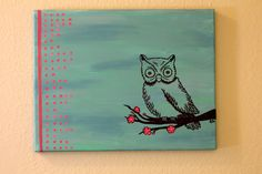 Owl Painting- Original Oil on Canvas