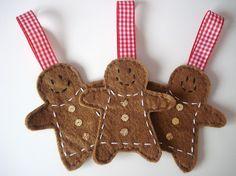 Mrs Gingerbread men Christmas tree decorations