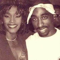 Whitney Houston and Tupac Shakur <3