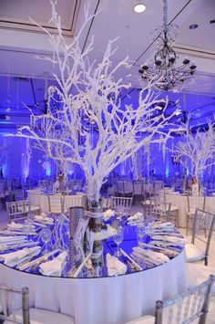 Fire And Ice Theme Decorations | Stunning Fire and Ice themed Bat Mitzvah! | special event ideas