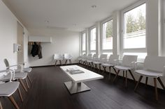 "Some inspiration for the interior design of a waiting room in a doctor's practice. The medical practice ""Praxis im Siebengebirge"" selected this elegant armchair of the Kusch+Co series 2080 ‪#‎uni_verso‬ with the aim of offering the best possible comfort to its patients."