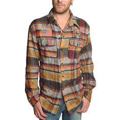 """Men's Vintage Laundry - """"MICK"""" Flannel Plaid Shirt"""