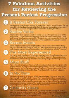 activities for teaching present perfect progressive