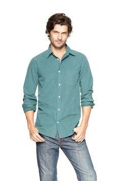 Lived-in wash checkered shirt #GapLove