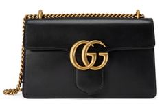 Gucci Gg Marmont Leather Shoulder Bag In Red-multi Gucci Shoulder Bag, Shoulder Handbags, Leather Shoulder Bag, Shoulder Bags, Gucci Purses, Purses And Handbags, Gucci Handbags, Leather Laptop Bag, Leather Purses