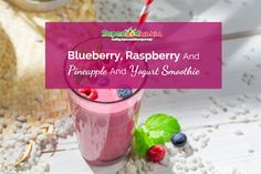 Blueberry, Raspberry and Pineapple and Yogurt Smoothiebreakfast, smoothies, tasty