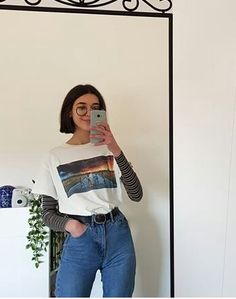 outfit date casual Mode Outfits, Retro Outfits, Trendy Outfits, Fall Outfits, Fashion Outfits, Vintage Hipster Outfits, 80s Style Outfits, Cute Grunge Outfits, Egirl Fashion