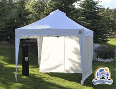 Undercover 10 x 10 Super Lightweight Commercial Aluminum Popup Shade Canopy Package with 4 Sidewalls