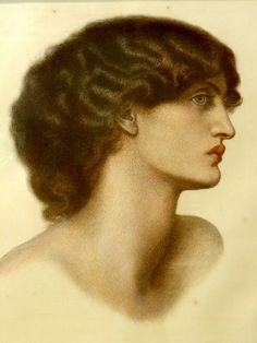 Giclee Print: Perlascura, 1871 (Red and Brown Chalks Heightened with White, on Pale Green Paper) by Dante Gabriel Charles Rossetti : Dante Gabriel Rossetti, John Everett Millais, William Morris, Edward Burne Jones, Pre Raphaelite Brotherhood, John William Waterhouse, Aesthetic Movement, Victorian Art, Arts And Crafts Movement