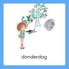 donderdag Daily Schedule Preschool, Kids Planner, Schedule Cards, Working With Children, Home Schooling, Schmidt, In Kindergarten, Preschool Activities, Diy For Kids