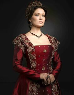 MC: Kosem - s2 Kosem sultan promo pic, red dress