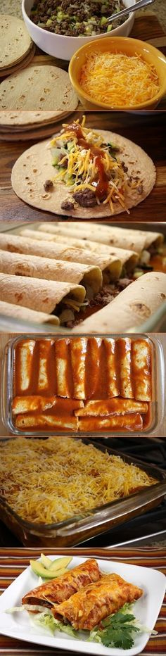INGREDIENTS: 1 pound lean ground beef 1 1/2 cups diced onion 1 1/2 cups (about 2 medium) finely diced zucchini 12 corn tortillas, he...